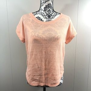 Peach / Pink Forever 21 Knit T-shirt Size Small